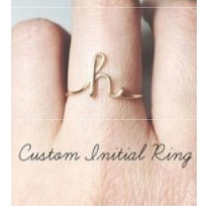 Jewelry - 🆕️ COMING SOON - Initial Ring